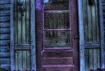 PURPLE-vintage distressed chippy furnitures, purple paint