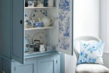 Fantasy in Blue / Romantic decor in blue and white
