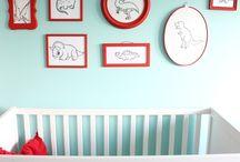 inspiración para los mas peques / Paredes pintadas en habitaciónes de niños y bebés que harán volar su imaginación #allyouneediscolor