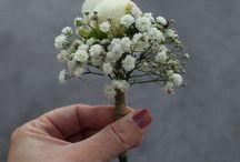 Gypsophila Wedding Flowers / Barn Wedding at Bickley Mill Inn (Devon) with Gypsophila and White Peonies