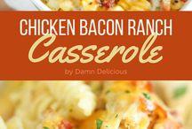 Cooking : Chicken casseroles