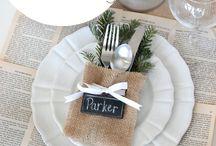 SET THE TABLE FOR CHRISTMAS IDEAS