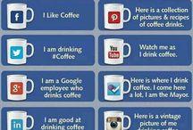 """Te li do io i Social / Raccolta di infografiche che """"spiegano"""" i social media con la pizza, il caffè ecc ecc"""