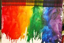 ArtEd- Melted crayons / by Donna Staten