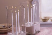 Candles and vases