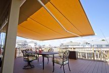Retractable Awnings / If you're looking to add a new level of shading, comfort, and sophistication to your patio space, a retractable awning from Rollac is the perfect solution.   Choose from a wide assortment of fabrics, and the option of having the awning operate with the touch of a button.