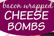 Bacon wrapped cheese