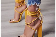 Shoes in Yellow and Shades