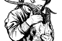 creepy / Gore,Art blood,Creepy illustrion,Suicide,Demons,Dolls,Death