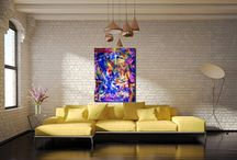 Burst of colors and shapes! / Modern #abstract #art from Los Angeles, California.