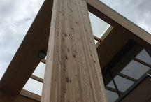 Pfosten Riegel Konstruktion - Brettschichtholz / Brettschichtholz