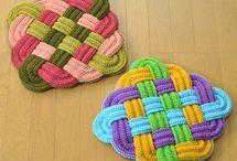 かご編みの角座