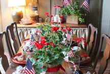 Red, White and Blue Party / Hosting an outdoor party to celebrate the USA? This collection of red, white and blue decor is a great start!