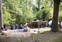 10m x 7.5m Beige Stretch Tent