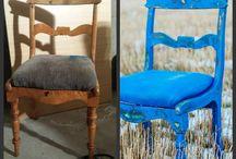 Før og etter med Vintro kalkmaling