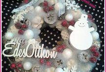 Karácsonyi ajtódísz/Christmas door hanger