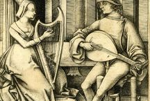 Music-making ladies in old art