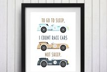 Race Car Boys Room Nursery