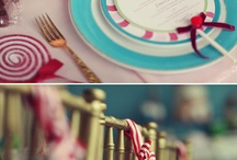 pretty in pastels / Table presentations , all in pastels