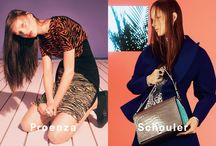 Fall 2014 Ad Campaign / Proenza Schouler Fall 2014 Ad Campaign Featuring Model Julia Bergshoeff by David Sims