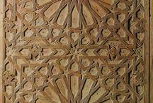 Wood door carved