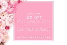 Our Latest Promo Codes | Sunlit Letterpress