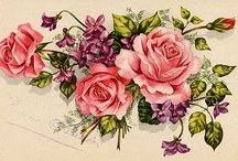 Vintage roses / Beautiful postcards, cards and images