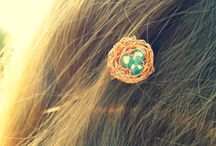 Bird's Nest Handmade Jewelry and Hair Accessories Collection