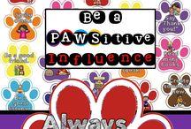 Paw print classroom