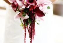 Burgundy, Dusty Rose + Gold Wedding