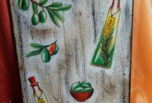 Доски кухонные, подставки под горячее / декупаж, роспись, декорирование кухонных досок