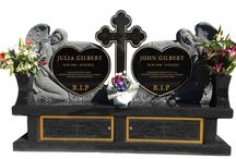 Statue Headstone Designs / Statue Headstones designed by Forever Shining Australia. You can design your own on our website www.forevershining.com.au