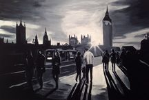 Paintings of London / A collection of original paintings by Angela Wakefield based on the city of London