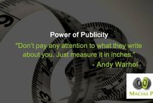 The Power of Publicity / Inspirational quotes on the importance of the publicity for every business - large or small.