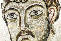 Византийская мозаика. Портрет.