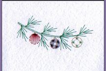 fonalgrafika Vianoce