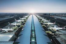 Dubai, U.A. Emirates | Flights / Flights into Dubai International Airport (DXB) & Dubai World Central - Al Maktoum International Airport in UAE. This Board is brought to you by Sinbad's Emirates Pocket Guide  / by Sinbad's Emirates Pocket Guide