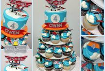 Planes themed birthday cakes