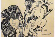 Рисунки  Графика Виктора Грибова / рисунки карандашом ,пером,шариковой ручкой и др.