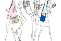fashion illustration BAGS