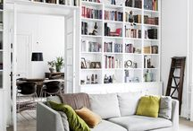 Library in Living Room