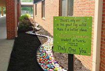 school landscaping ideas
