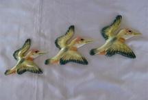 Ceramic Flying Wall Bird Sets