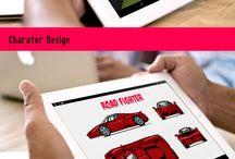 UX Game Design / Road Fighter UX mobile , tablet game Design