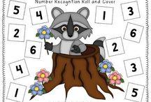 1 2 3's / Maths activities
