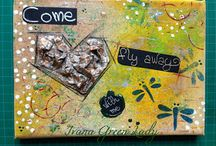 Canvas - Tele / Scrapbooking canvas and mixed media