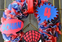 Spiderman Wreaths for by Grandsons / by Angelia Rightmer