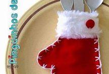 guarda cubiertos navideños