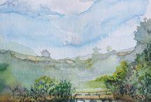 Art - Watercolour's Leonie Sinclair / Original watercolour paintings