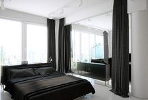 bedroom white & black